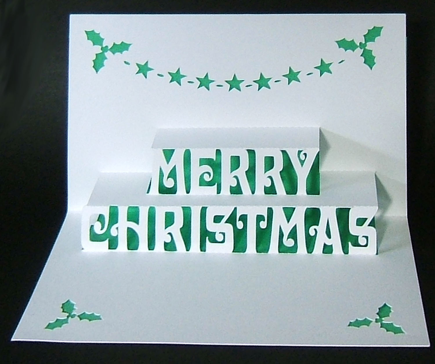 Christmas Card Pop Up Template Decorating Ideas