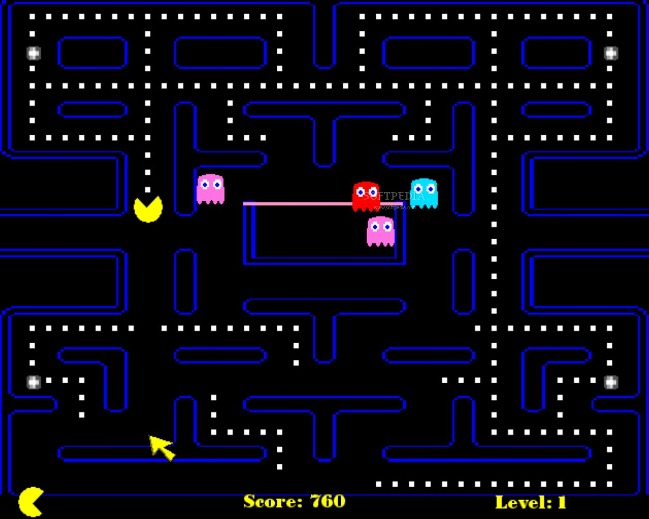 play pacman online full screen