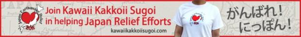 Kawaii Kakkoii Sugoi T-Shirt to benefit Red Cross