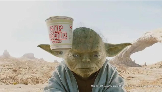 Yoda Stars in New Nissin Cup Noodles Ad