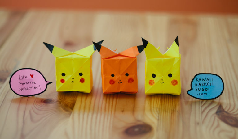 Pikachu Origami – How To Fold [Video Tutorial]