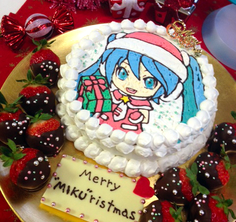 Hatsune Miku Christmas Cake Recipe!