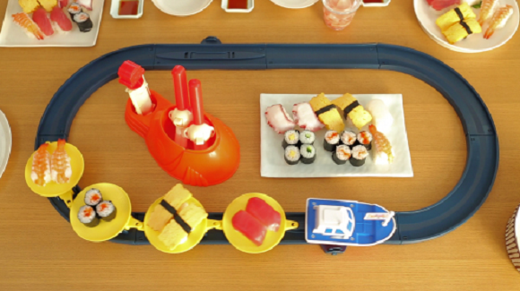 Toy set brings magic of revolving sushi into the home