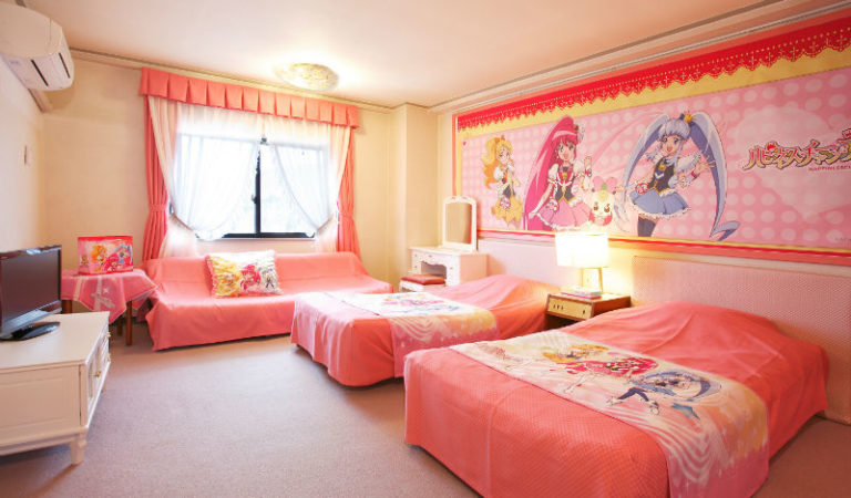 Pretty Cure Themed Hotel Room