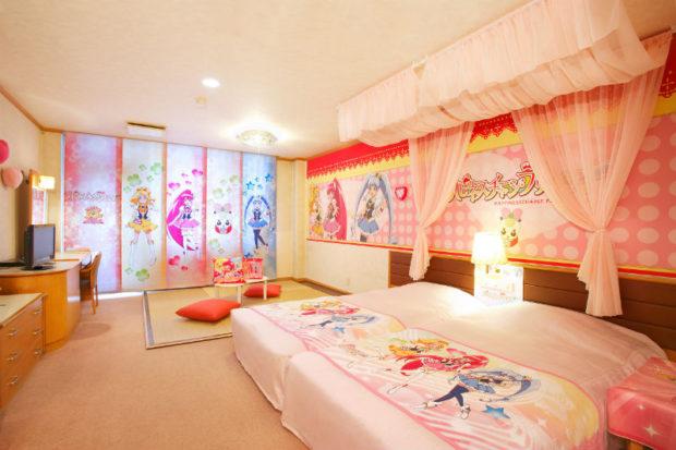Pretty Cure Themed Hotel Room Kawaii Kakkoii Sugoi