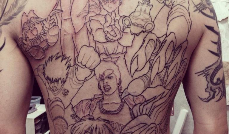Huge Weekly Shonen Jump Tattoo