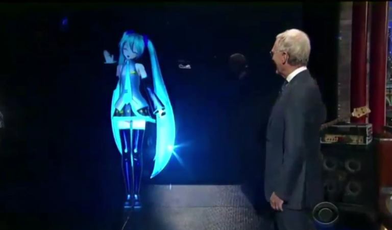 Miku on the Late Show with David Letterman