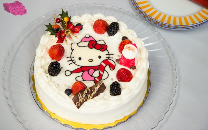 Hello Kitty Chocolate Christmas Cake DIY Recipe