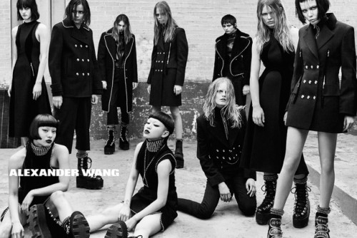 AYABAMBI STAR IN ALEXANDER WANG'S FALL / WINTER 2015 AD CAMPAIGN