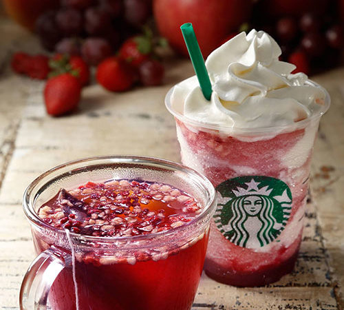 Starbucks to release new drinks mixing fruits and hot tea!