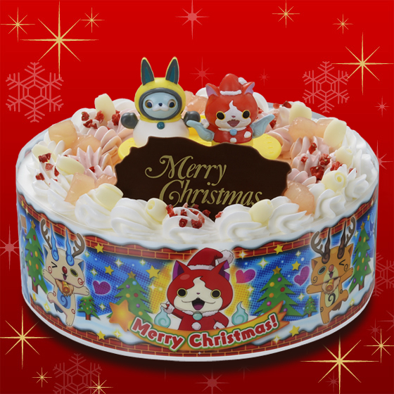 Bandai 39 s kyara deco christmas cakes 2015 kawaii for Decoration yo kai watch