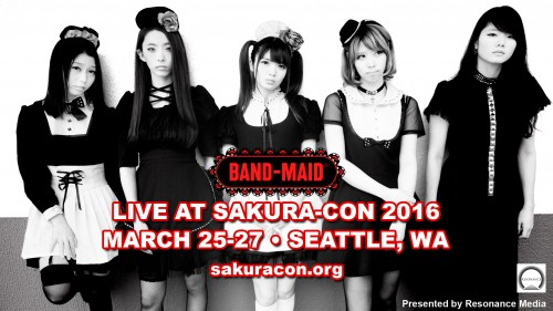 BAND-MAID releases video comment for Sakura-Con 2016