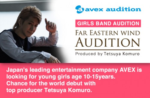 Avex Holding Auditions For International Girl Group Produced by Tetsuya Komuro