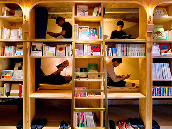 A Bookstore You Can Sleep In, Book & Bed Tokyo