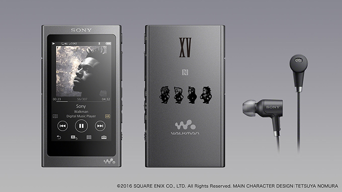 """SONY made an announcement of the limited release of """"Final Fantasy 15"""" ahigh-resolution  compatible walkman & headphone set."""