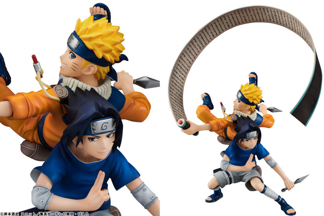 "The cover illustration of ""NARUTO"" volume 17 is three-dimensional. It features figures of Naruto and Sasuke back to back."