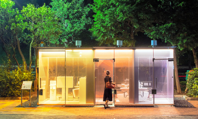 The Coolest Transparent Public Toilets in Tokyo