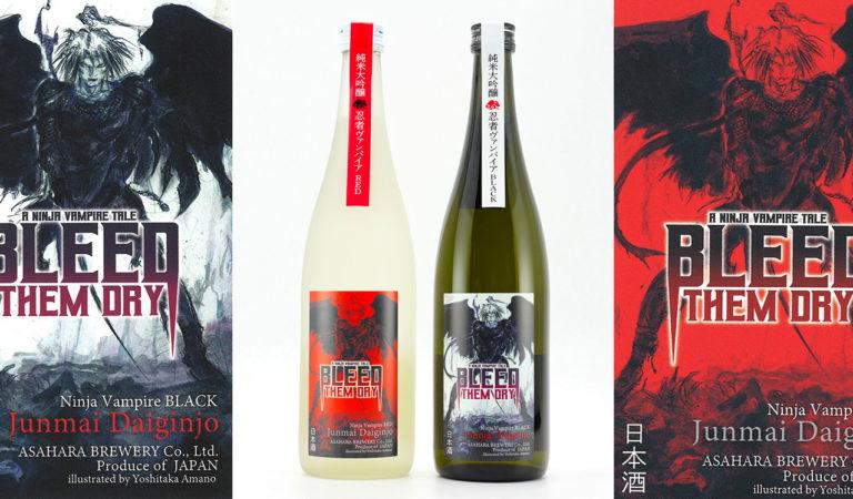 Bleed Them Dry Premium Sake Bites into the U.S. with Designs by Yoshitaka Amano